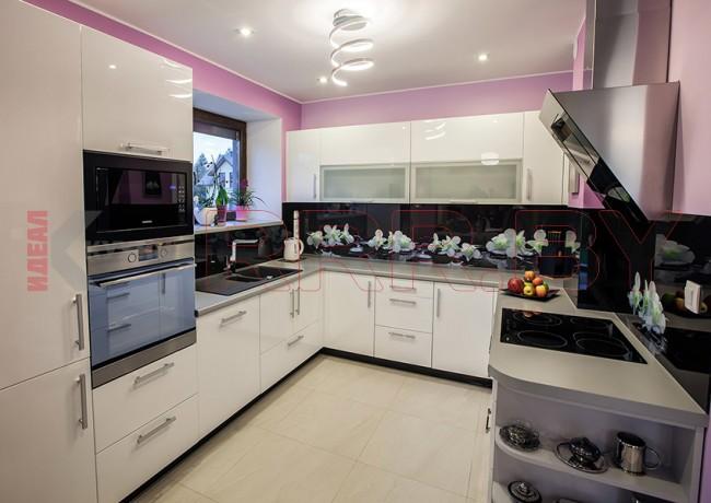 Кухня со скинали №100