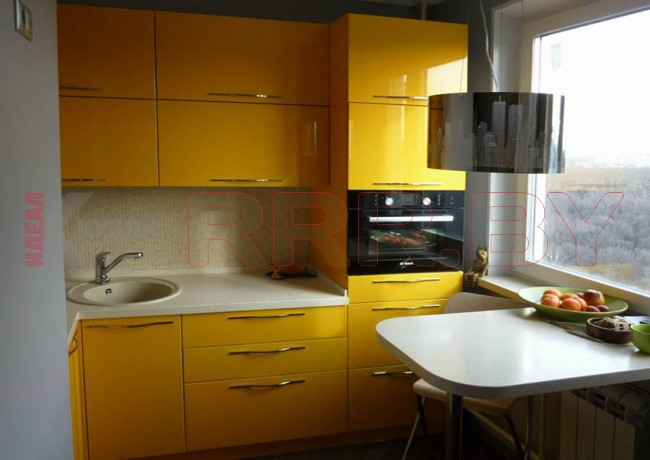 Кухня из акрила №58