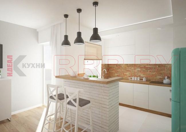 Кухня с барной стойкой №11