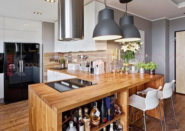 Кухня с барной стойкой №12