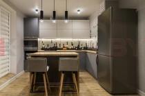 Серая кухня в интерьере  №02