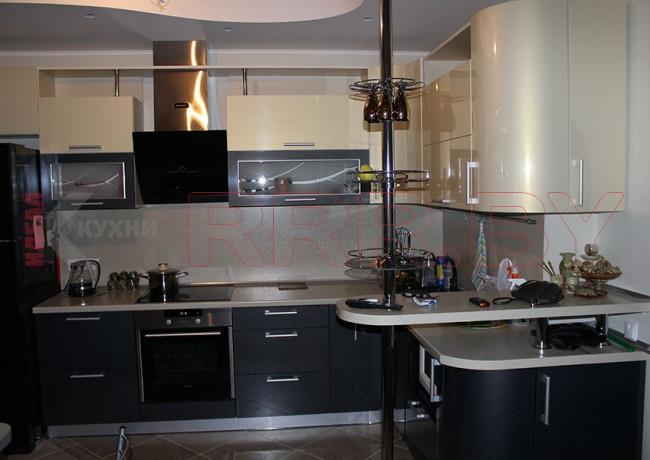 Кухня с барной стойкой №16