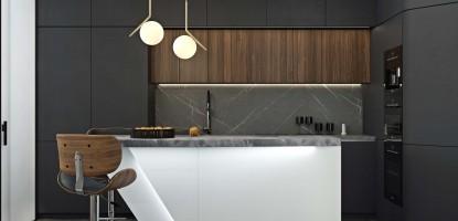 Современный минимализм на кухне