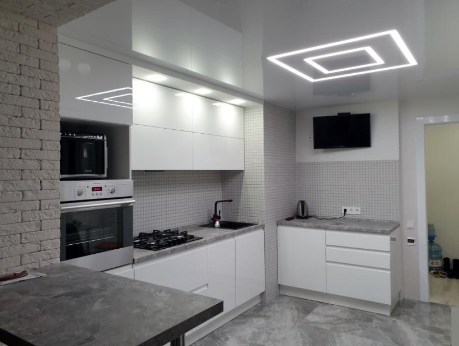 Кухня с интегрированной ручкой №01