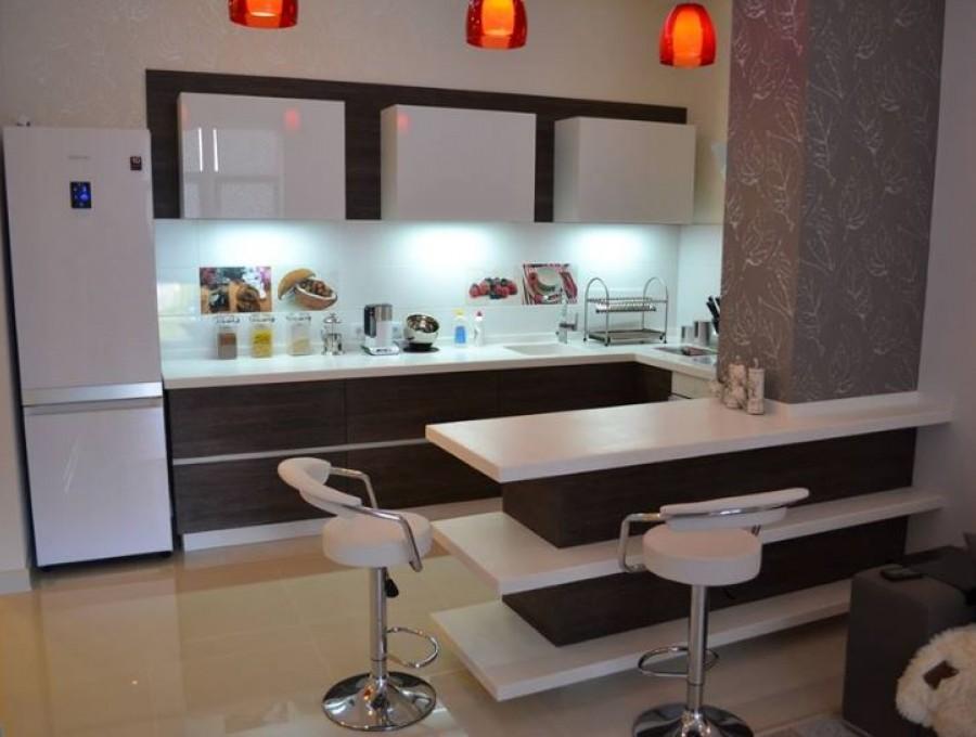 Кухня из МДФ крашенного №155
