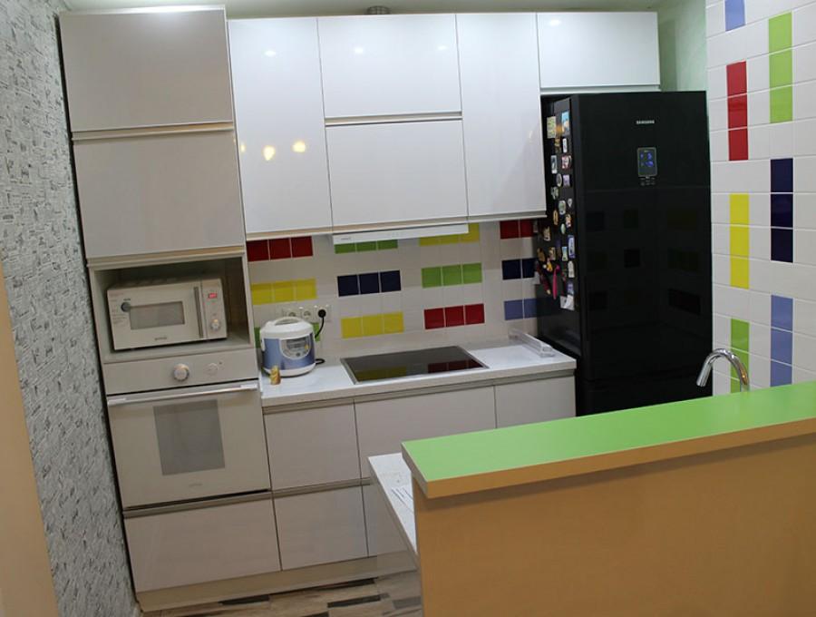 Кухня из МДФ крашенного №17