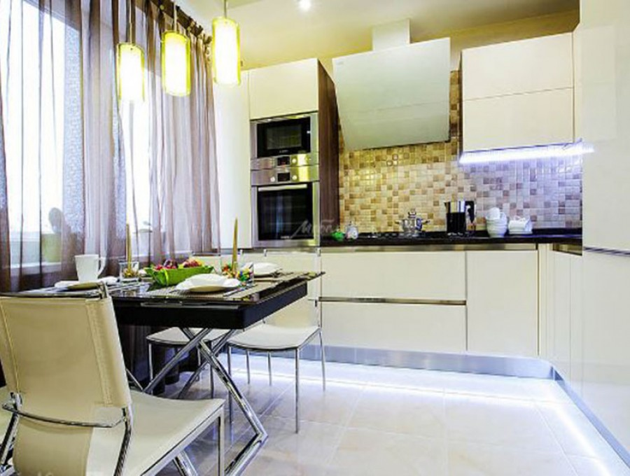 Кухня из МДФ крашенного №147