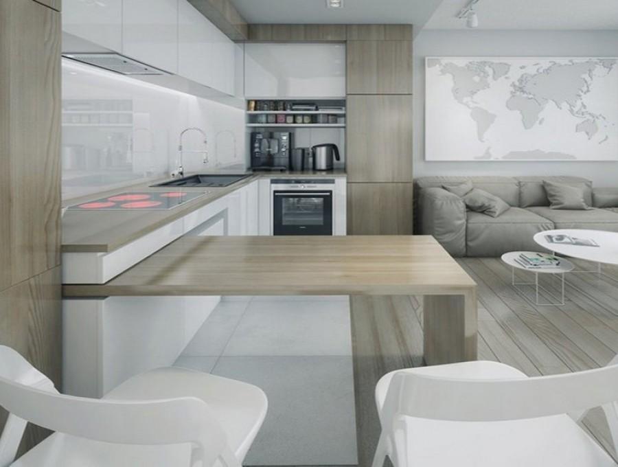 Кухня с барной стойкой №10