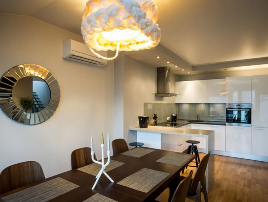 Кухня с барной стойкой №41