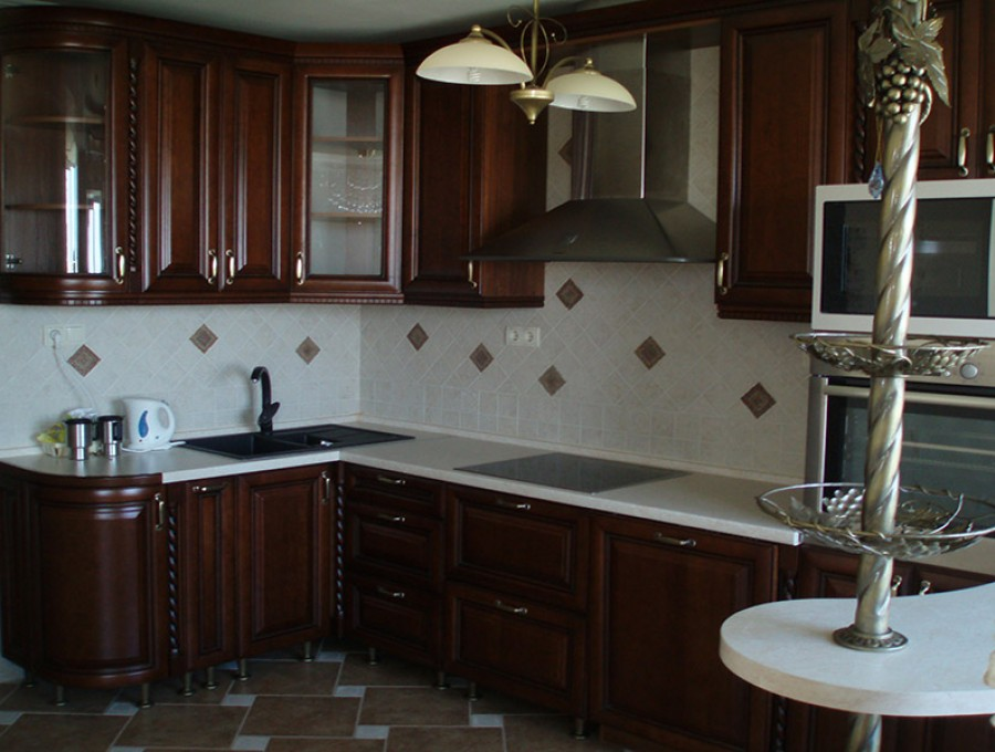 Кухня с барной стойкой №54