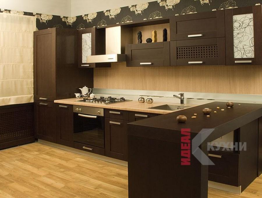 Кухня с барной стойкой №57