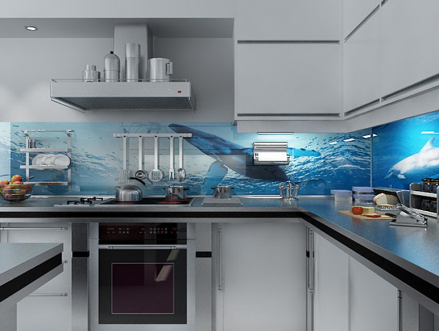 Кухня со скинали №118