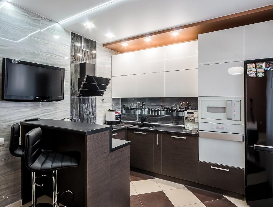 Кухня в стиле хай-тек № 101