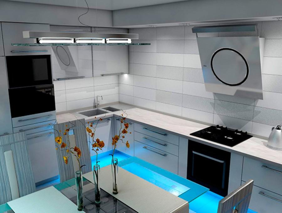 Кухня в стиле хай-тек № 103