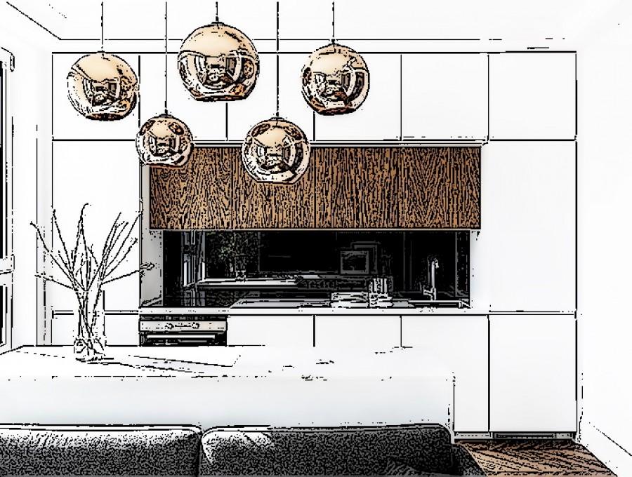 Кухня с фасадами Феникс  FENIX NTM №03