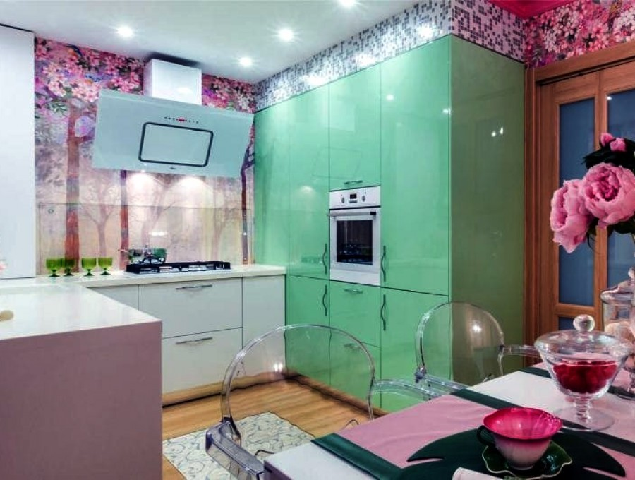 П-образная кухня №143