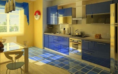 Яркие цвета для кухни
