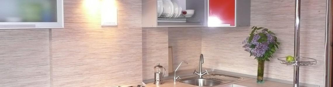 Кухни с алюминиевыми фасадами